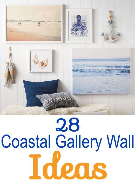 30 Coastal Gallery Walls Inspiration Ideas To Create A Compelling Wall Art Display Coastal Gallery Wall Family Room Wall Decor Family Room Walls