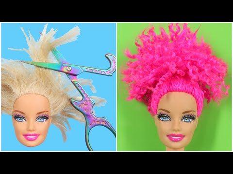 Pembe Renkli Topuz Kivircik Sacli Barbie Nasil Yapilir 5 Dakikada