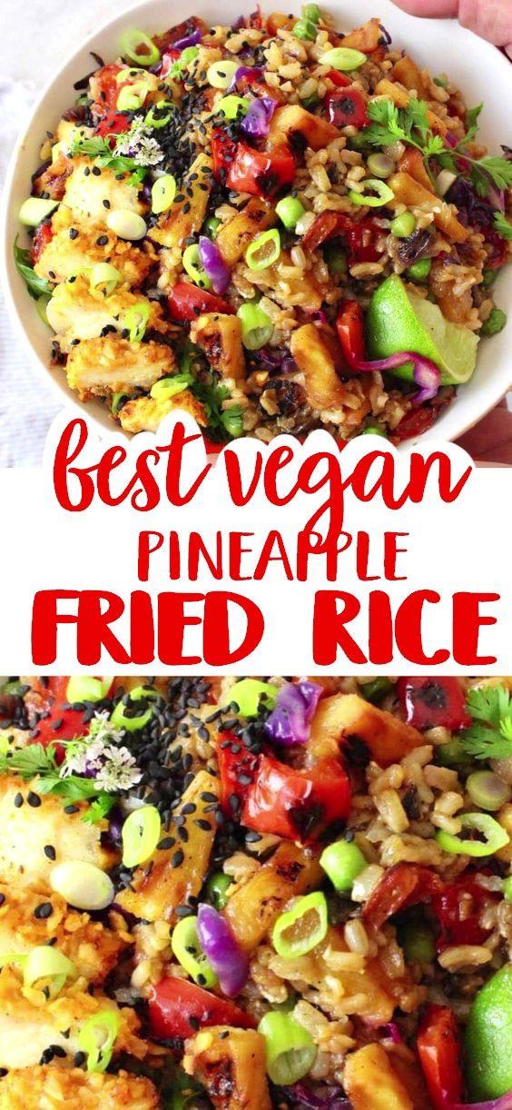 Vegan Pineapple Fried Rice Recipe Veggie Society Recipe In 2020 Whole Food Recipes Vegan Dinner Recipes Vegetarian Vegan Recipes