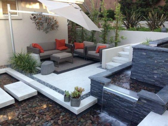 garten wasserfall selber bauen tipps ideen u2026 Pinteresu2026 - terrassengestaltung mit wasserbecken