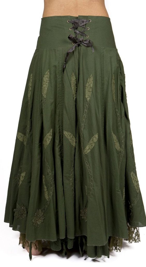 """A cotton skirt with endless possibilities, a French-Victorian modern design. Comfortable and adjustable. Wear long or gathered short. A fun, classic piece to add to your wardrobe. Size Measurement S: Waist 28""""-32""""Length-36"""" M: Waist 32""""-33"""" Length 38"""" L: Waist 33""""-36"""" Length 38"""" XL: Waist 34""""-38"""" Length 38"""" ***Cold Water Wash, Hang Dry***"""