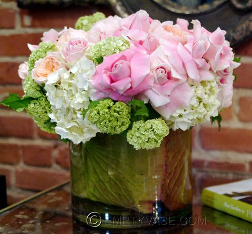 Roses, Vibernium, and Hydrangea- Empty Vase Florist of Los Angeles:
