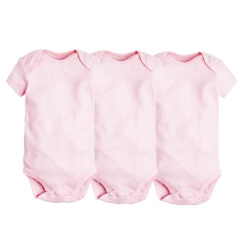 3pcs Set Summer Baby Girls Bodysuits 100 Cotton Newborn Short Sleeve Clothing Infant Jumpsuits Clothes Baby Boys Bod Baby Clothes Baby Boy Outfits Summer Baby