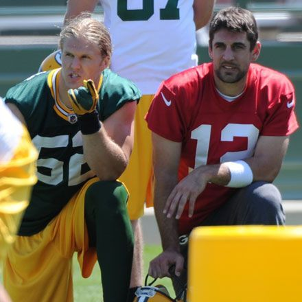 Clay Matthews and Aaron Rodgers <3 <3 <3 <3 <3 <3 <3 <3