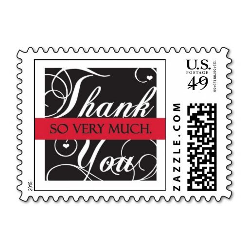 Thank- you with Love Postage Stamp! Make your own stamps more personal to celebrate the arrival of a new baby. Just add your photos and words to this great design.
