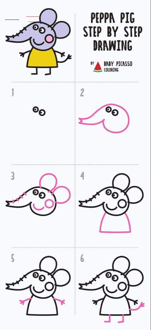 How To Draw Emily Elephant Peppa Pig Drawing And Coloring Pages Youtube Peppapig In 2020 Peppa Pig Drawing Pig Drawing Peppa Pig