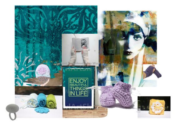 """""""Enjoy Beautiful Things in Life"""" by artbymarionette ❤ liked on Polyvore featuring Modern Vintage, EtsySpecialT, crazy4etsy and keepknitting"""