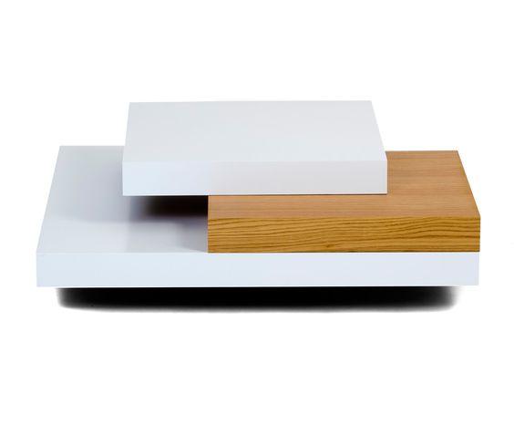 Couchtisch Slate, Eiche/weiß, B 90 cm   Westwing Home & Living