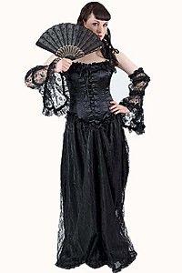 Arabella satin robe gothique