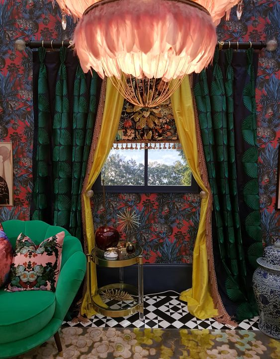 Unique & Daring Design For Maximalist Lovers - Divine Savages   Divine Savages were shortlisted as a finalist at this year's Spotted Awards where they collaborated with Oliver Thomas from BBC's Great Interior Design Challenge at Grand Designs Live creating a Maximalist masterpiece design-room wrapped in their signatureFaunacation wallpaper. #maximalism #hometrends #interiortrends #interiorinspo #homedecor #interiordecor #interiordesign