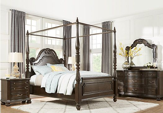Queen Bedroom Sets Rooms To Go Whittington Cherry 6 Pc Queen Canopy Bedroom 3213602p Bedroom Sets Queen King Bedroom Sets Canopy Bedroom Sets