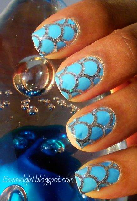 Fish scales: Mermaid Scale, Scales Nail, Nailss, Scale Nail, Fish Scale, Nail Design, Mermaid Tail