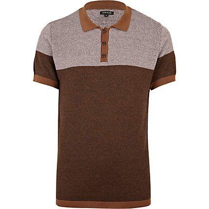 Polo hemden m nnerhemd and fl sse on pinterest for Light brown polo shirt