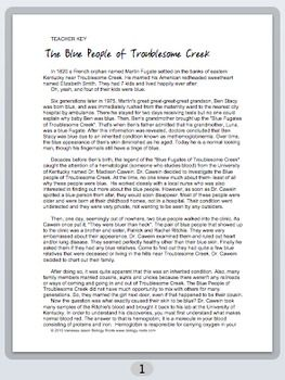 the blue people of troublesome creek The story of an appalachian malady, and inquiste doctor, and a paradoxical cure learn with flashcards, games, and more — for free.