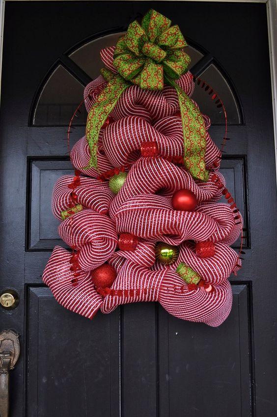 Christmas Tree Wreath #christmas