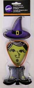 Set 3 Tagliapasta in Metallo Strega Halloween - Dim. fino a 7,5 cm WILTON