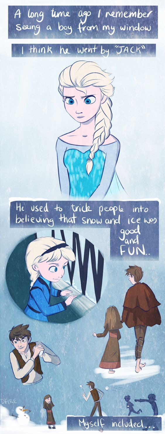 Frozens Elsa and Rise of the Guardians Jack Frost | derpfire on Tumblr