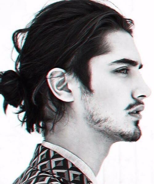 Casual Low Man Bun Hairstyle Long Hair Styles Men Man Bun Styles Mens Hairstyles