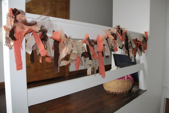 Scrappy Fabric Garland / Bunting / Swag. $35.00, via Etsy.