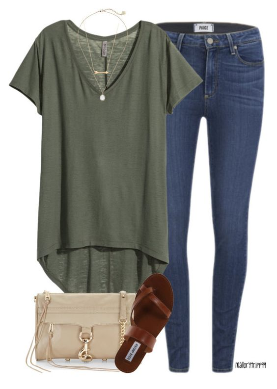 """olive"" by mallorytripp99 ❤ liked on Polyvore featuring Paige Denim, H&M, Rebecca Minkoff, Jennifer Zeuner, Steve Madden and Kendra Scott:"