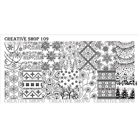 Creative Shop- Stamping Plate- 109