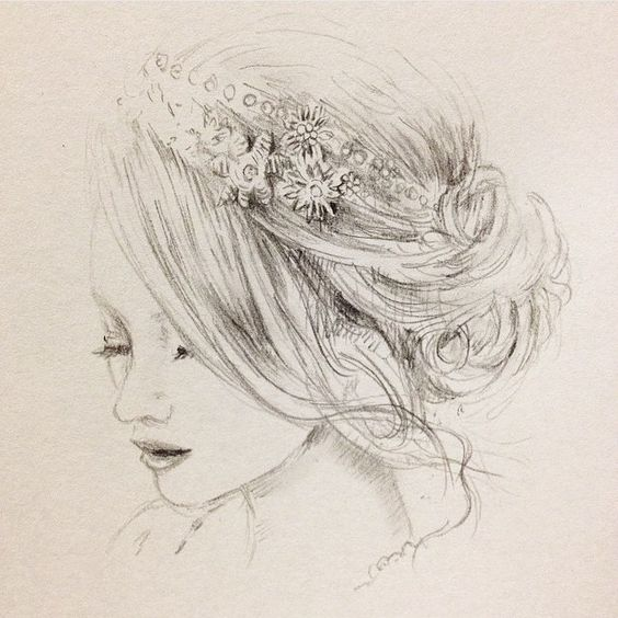 So pretty...  @kei_toi_et_moi You are amazing!!  Thank you for this beautiful drawing of our Ambrosia headpiece.. #mybeadedheart #handmade #bridal #headpiece