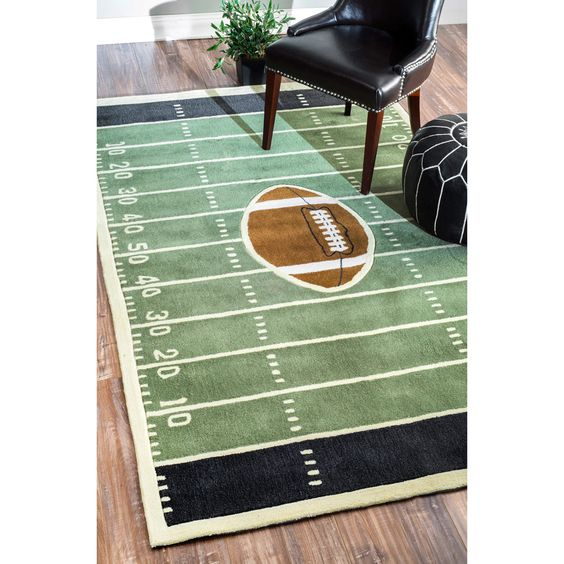 NuLOOM Handmade Football Field Green Rug (5' X 8') By