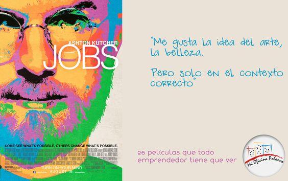 """""""Me gusta la idea del arte, la belleza.  Pero solo en el contexto correcto""""  - Jobs."""