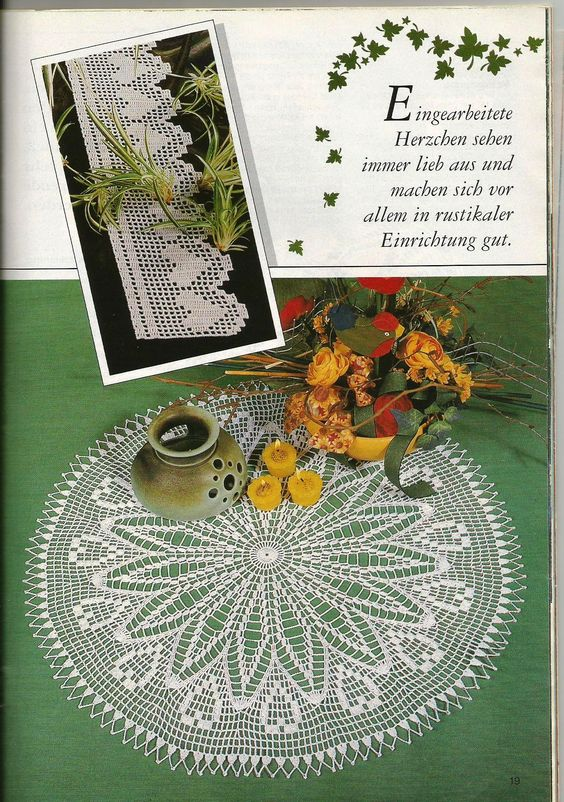 PHOTO ONLY ~ Does anyone know where I can get the free diagram for this doily? When I posted it, there was one with it. I came back to print it and it is gone. Please help me if you can. Thanks! ~ FREE DIAGRAMS ~