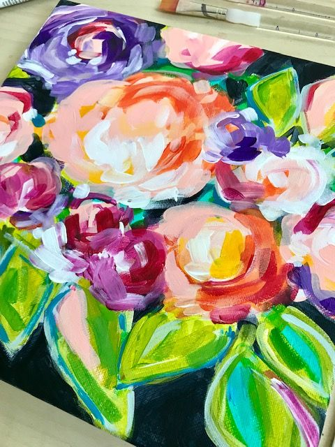 How To Paint Abstract Flowers For Beginners Painting Tutorials