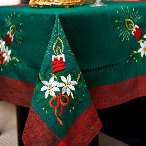 Mantel para navidad mis bordados favoritas pinterest - Ideas para hacer manteles ...