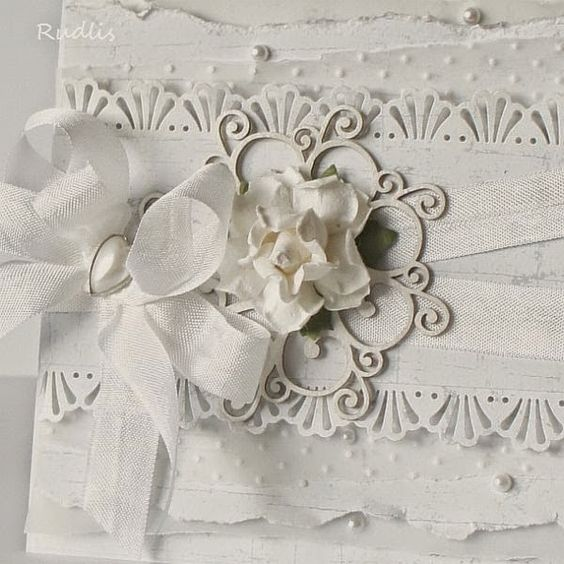 pracownia wycinanki: White wedding card by Rudlis - perfectly!