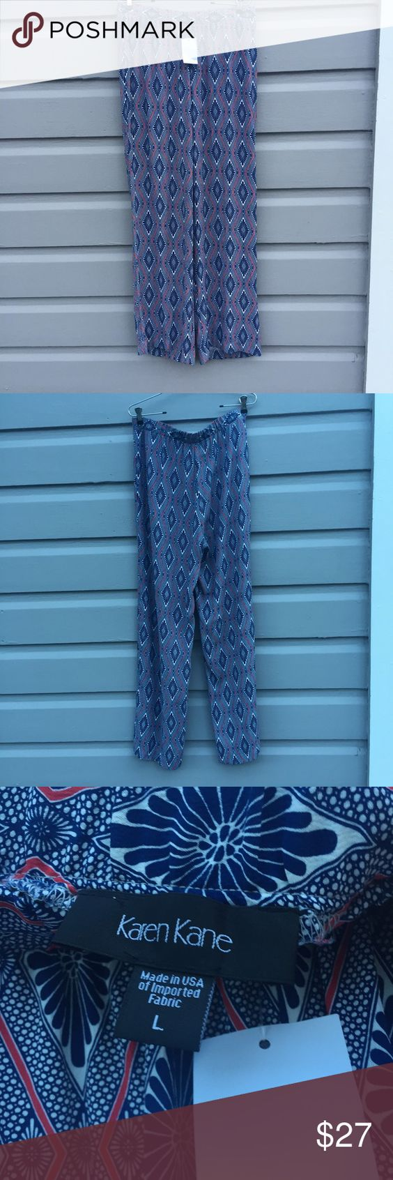 Karen Kane new large palazzo pants Brand new with tags size large loose fit palazzo pants by Karen Kane. Boho at its best; comfy yet stylish with an easy fit that flatters any figure. Bought at Nordstrom but never wore. Nordstrom Pants Wide Leg