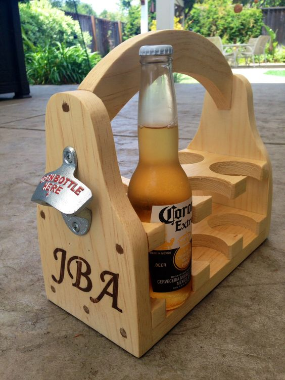 Beer caddy with customization option by JKwdwrk on Etsy https://www.etsy.com/listing/191668254/beer-caddy-with-customization-option