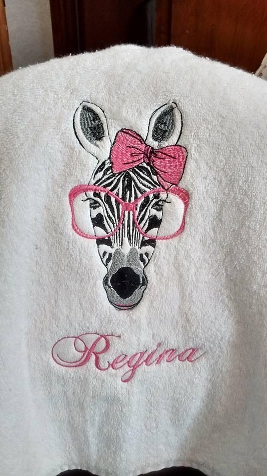 Zebra free embrodiery design machine embroidery