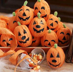 egg carton pumpkin favors (Parents magazine)