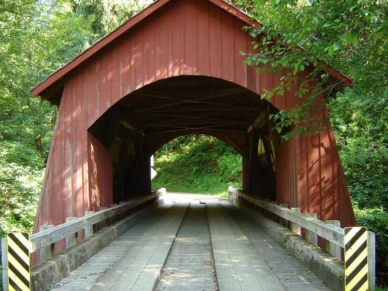 Yachats River Covered Bridge in Oregon