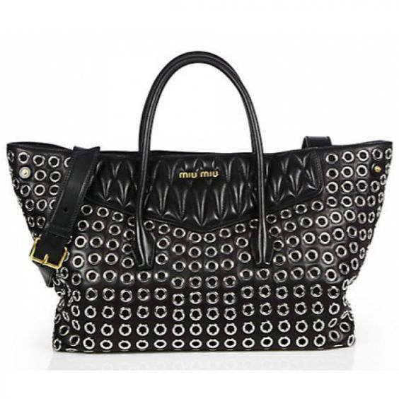 Miu Miu Large Biker Double-Handle Shopper
