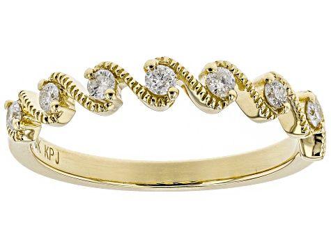 White Diamond 10k Yellow Gold Ring 20ctw Cdg164b Jtv Com Gold Rings Yellow Gold Rings White Diamond