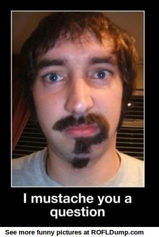 Mustache question #meme #funny #lol #people