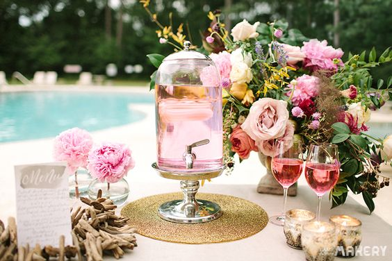 6 Steps to Make a Pretty Pink Drink Station | Camp Makery