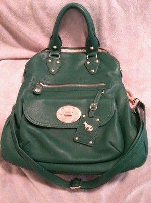 6 hours left. Priced to sell at $108.00 Emma Fox Large Leather Green Foldover Purse Handbag Crossbody Signature $298 | eBay
