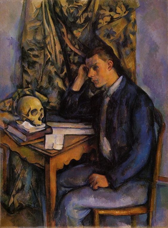 Paul Cézanne ~ Young Man and Skull, 1898