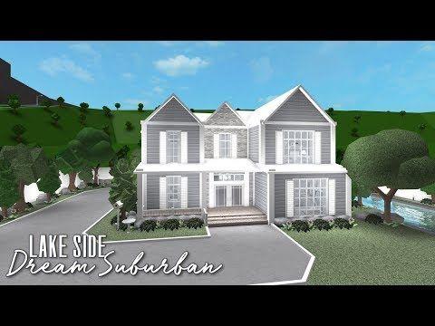 Roblox Bloxburg Lake Side Dream Suburban Youtube Modern