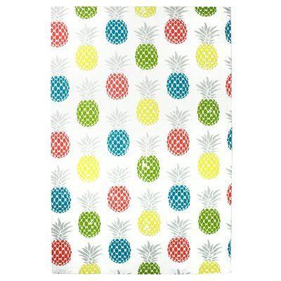 Designer Tea Towel Printed Cotton Kitchen Towel with Fruit Design Dish Towel