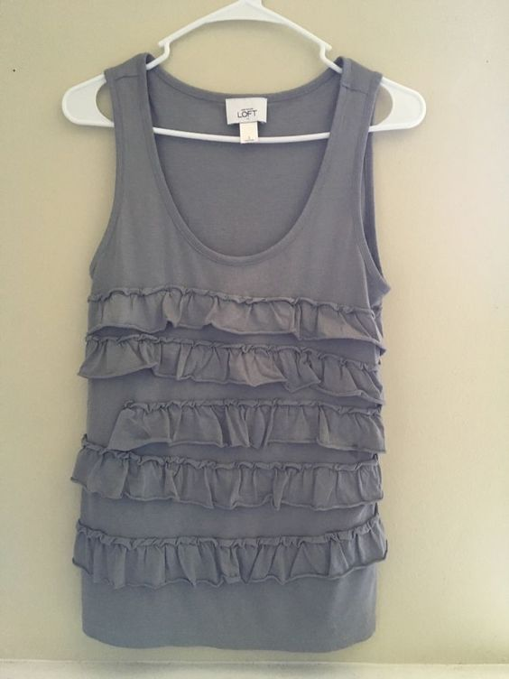 Loft Grey Sleevless Top #AnnTaylorLOFT #Blouse