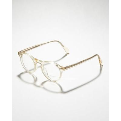 Oliver Peoples Gregory Peck Fashion Glasses, Buff