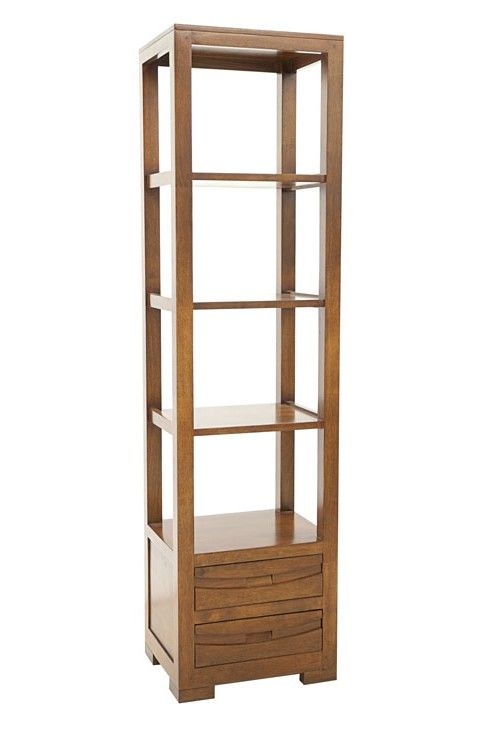 colonne hevea 2 tiroirs 4 etageres