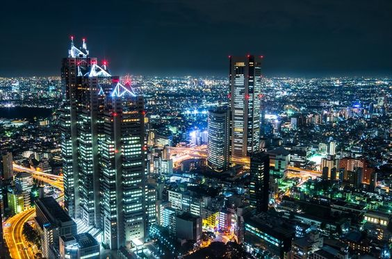 View from the observation deck of the Tokyo Metropolitan Government Building(