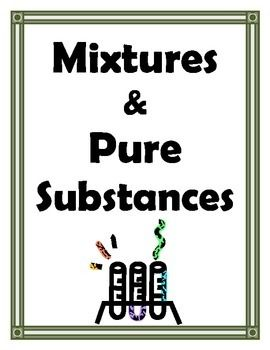 Mixtures and Pure Substances. Mixtures and Pure Substances Labs ...